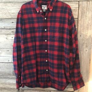Men's Flannel Button Up Size Large Old Navy